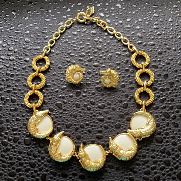 Lillly Pulitzer Crocodile Necklace and Earring set